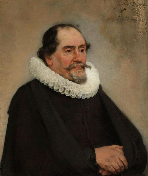 Portret van Abraham de Potter, Carel Fabritius van Meesterlijcke Meesters