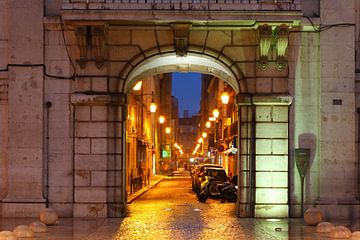 Lissabon : Rua dos Sapateiros in de Baixa van Torsten Krüger