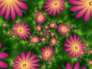 Leuchtende Blumenfantasie