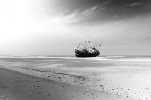 Gestrande vissersboot van