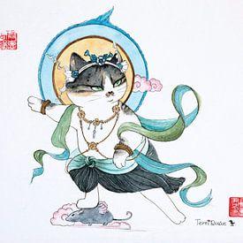 thai-chi Katze von Waterside Studio