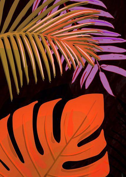 TROPICAL LEAVES & BLACK no2c van Pia Schneider
