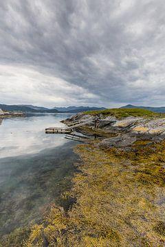 Un gréeur dans l'eau Norvège sur Erik Borkent