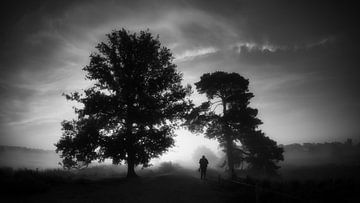 Unterwegs (schwarz-weiß) von Lex Schulte