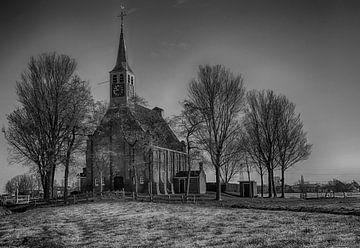 Nordholländische Reformierte Kirche Krommenie auf dem Krommenie-Deich von Evelien van der Horst
