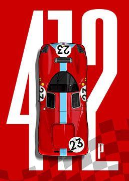 Ferrari 412P Top Tribute van Theodor Decker
