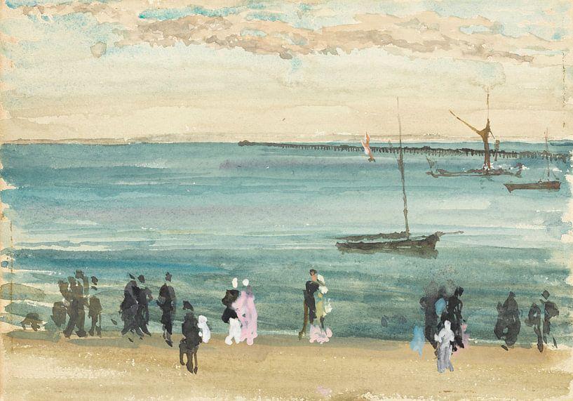 Southend Pier, James Abbott McNeill Whistler. von Meesterlijcke Meesters