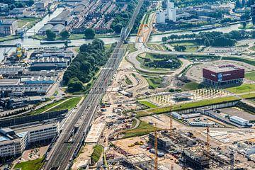 Leidsche Rijn Centrum in aanbouw van De Utrechtse Internet Courant (DUIC)