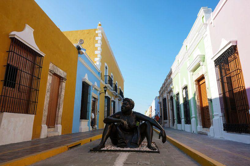Kunst in de stad Campeche - Mexico van Joris Pannemans - Loris Photography