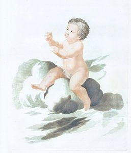 Kind auf einer Wolke