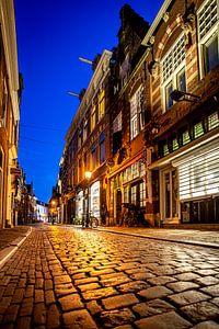 Warmoestraat dans le centre-ville de Haarlem - couleur
