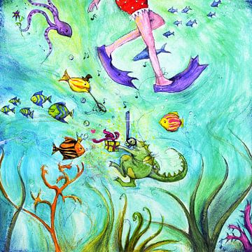 Samen zwemmen von keanne van de Kreeke