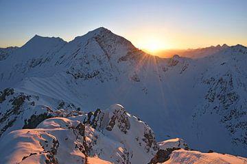 Zonsondergang in de Lechtaler Alpen van Andreas Föll