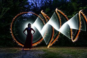 lightpainting - tubestories van Marjolein Hermans