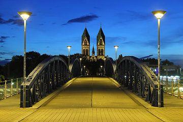 Blaue Brücke Freiburg van