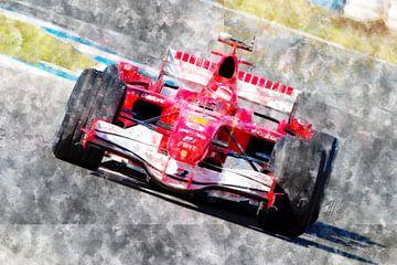 Michael Schumacher, Ferrari, 2006 von Theodor Decker