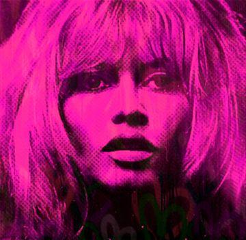 Motiv Brigitte Bardot Pink Love Pop Art PUR van Felix von Altersheim