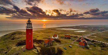 Vuurtoren Eierland Texel prachtige zonsondergang van Texel360Fotografie Richard Heerschap