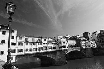 Ponte Vecchio Florence Zwart/wit von Jasper van de Gein Photography