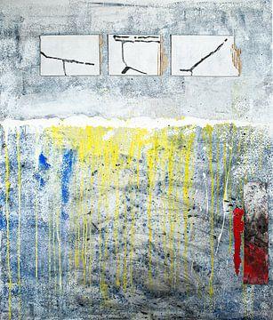 Drie witte rechthoeken van Klaus Heidecker