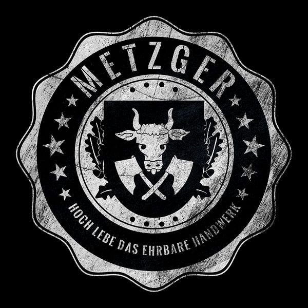 Metzger, Fleischer, Zunft, Handwerk von Kahl Design Manufaktur
