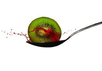 Kiwi splah fotografie van Pepijn Knoflook