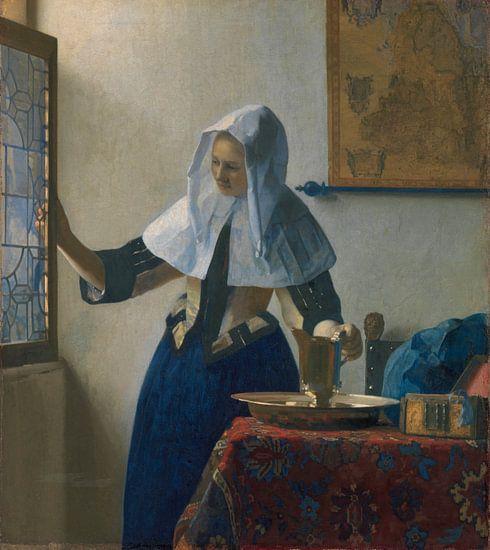 Jonge vrouw met een waterkan, Johannes Vermeer van Meesterlijcke Meesters