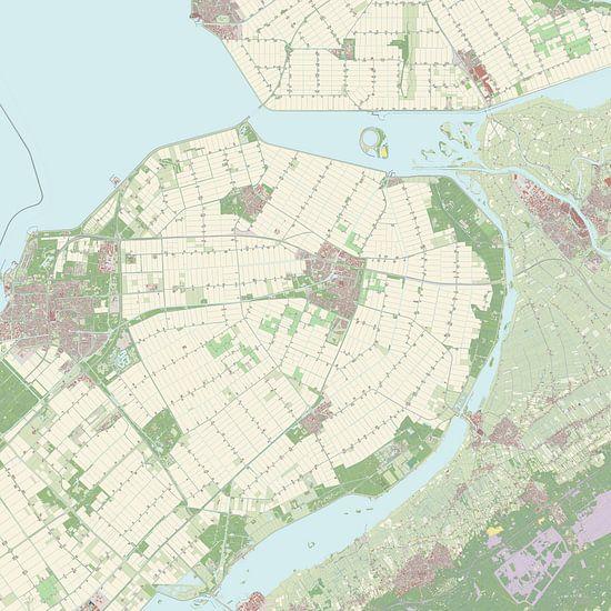 Kaart vanDronten