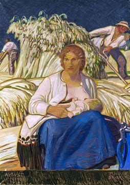 Kornernte, ERICH ERLER, 1914 von Atelier Liesjes