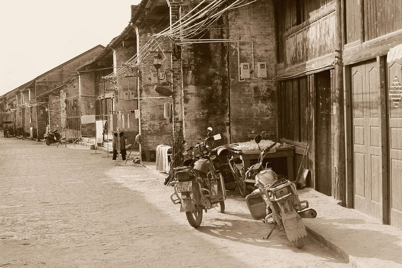 Vintage motorfietsen, China van Inge Hogenbijl