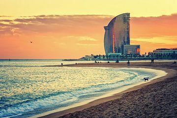 Barcelona - La Barceloneta Strand von Alexander Voss