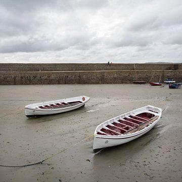 2 roeiboten in de haven  van Wilbert Van Veldhuizen