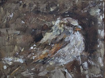 Vogel, Haussperling von Mieke Daenen