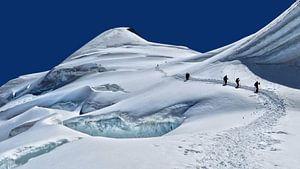 Alpinisten op de Allalinhorn van