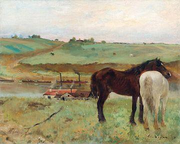 Pferd auf einer Wiese, Edgar Degas (1871)
