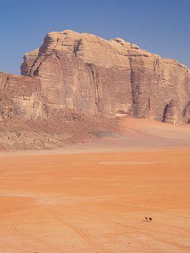 Nomade in de Wadi Rum woestijn in Jordanië van Teun Janssen