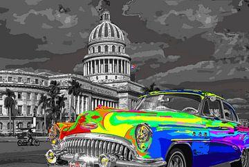Car Cuba 1 van Damien Vincent