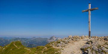 Gipfelkreuz, Walser Hammerspitze von Walter G. Allgöwer