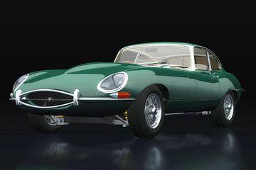Jaguar E Type drie-kwart zicht