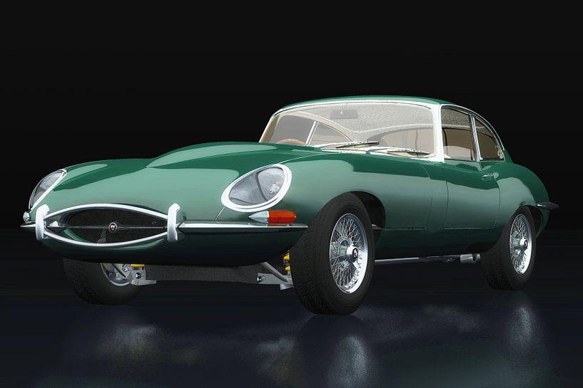 Jaguar E Type drie-kwart zicht van Jan Keteleer