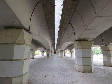 Lijnenspel onder een Spaanse brug van Maja van Eijndthoven