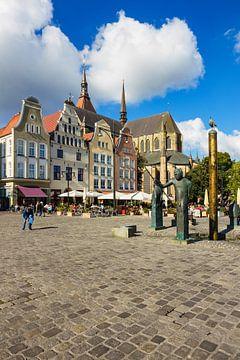 Blick über den Neuen Markt in Rostock von Rico Ködder