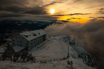 Zonsondergang op Rigi Kulm - Schwyz - Zwitserland van Felina Photography