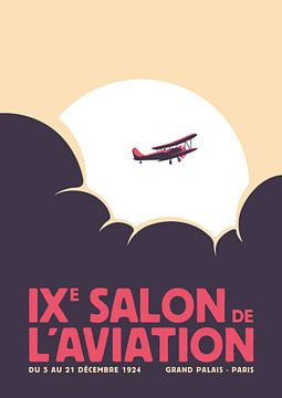 Salon de l'aviation (purpur) von Rene Hamann