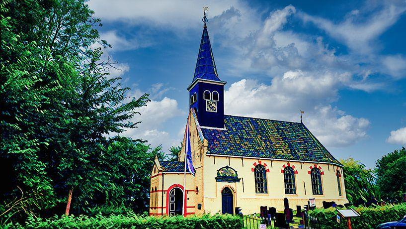 Kirche von Ferwoude, Friesland von Digital Art Nederland