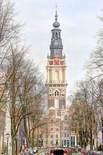 Zuiderkerk en Groenburgwal Amsterdam