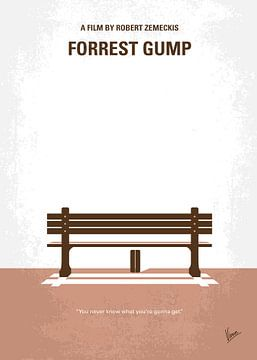 No193 My Forrest Gump minimal movie poster van Chungkong Art