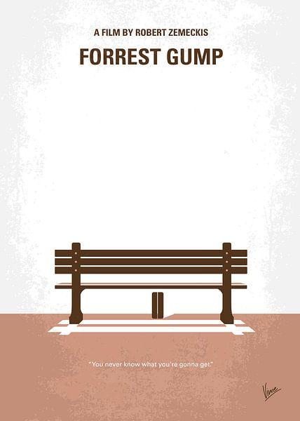 No193 My Forrest Gump : affiche de film minimal sur Chungkong Art