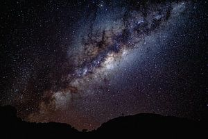 Sterrenhemel met middelpunt van de melkweg - Aus, Namibië