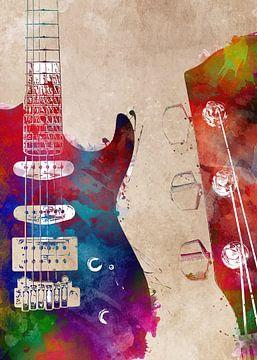 Gitarre 28 Musikkunst #Gitarre #Musik von JBJart Justyna Jaszke